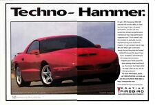 1996 PONTIAC FIREBIRD  ~  CLASSIC ORIGINAL 2-PAGE PRINT AD