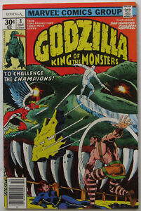 Godzilla #3 (Oct 1977, Marvel), FN-VFN, Champions app. (without Ghost Rider)