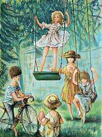 Jacques LALANDE :  Enfants jouant - LITHOGRAPHIE originale signée au crayon