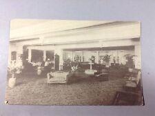 RPPC Vintage Postcard The Lounge Hotel De Vile Atlantic City Litho