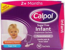 CALPOL SUGAR FREE INFANT SUSPENSION SACHETS - 12 SACHETS