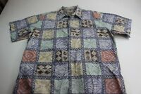 Cooke Street Honolulu Reversed Print Hawaiian Camp Shirt Large L