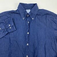 Brooks Brothers Button Up Shirt Men's Medium Long Sleeve Blue Casual 100% Cotton