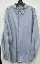 Mens Eddie Bauer XXL Tall Long Sleeve Button Front Blue Shirt Cotton