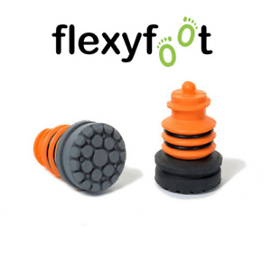 Replacement Foot Tips for Flexyfoot Ferrule - Single or Pairs - Grey or Black