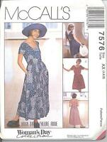 McCall's 7576 Misses' Dress in Two Lengths  Sewing Pattern