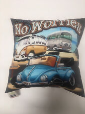 "No Worries VW Camper Van Printed cushion ""Bugs"""