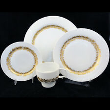 GOLDEN LEAVES Rosenthal Porcelain 4 Piece Place Setting NEW NEVER USED Germany