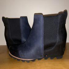 ca575f2e77e Sorel Lea Wedge Navy Black NWOB 8 Joan Arctic Ankle Boot