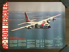 Glossy IN COLOR HC-130H Hercules Aircraft Poster-circa 1990s