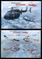 Aviation, Medicine Helicopter, Red Cross, Air Ambulance, BURUNDI Imperf MNH 2 SS