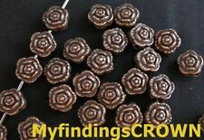 120 pcs Antiqued copper ROSE spacer beads 7mm FC286