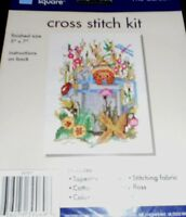 "Crafters Square Cross Stitch Kit - THE GARDEN - 5"" x 7"" finished size - New"
