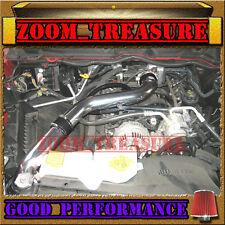 BLACK RED 03-08 DODGE RAM 1500/2500/3500 5.7 V8 HEMI FULL COLD AIR INTAKE ST3