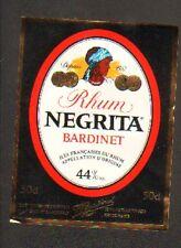 """BORDEAUX (33) ETIQUETTE de RHUM NEGRITA """"BARDINET"""" Portrait de Martinique"""