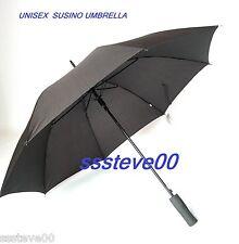Susino Uomo Donna Unisex Deluxe Ombrello Nero