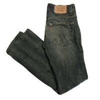 LEVIS 511 Mens Slim Fit Distressed Dark Blue Jeans W31 L34 (M334)