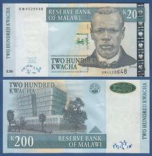 MALAWI  200 Kwacha  1.6.2004  UNC  P. 55 a