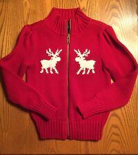 "Girls Sweater ""Chaps� Winter Full Zipper Size 4T Nwt"