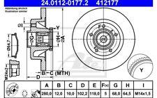 ATE Disco de freno x2 Trasero 280mm para RENAULT TRAFIC OPEL VIVARO