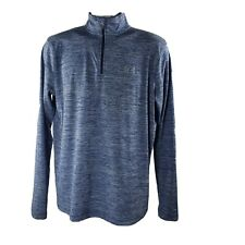 Under Armour HeatGear Loose 1/4-Zip Shirt M Blue Athletic
