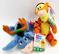 "Kohl's Mattel Disney Pooh Holiday Tigger & Eeyore 8"" Plush Special Edition w/tag"