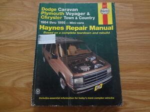 Haynes - Dodge Caravan Plymouth Voyager Mini-Vans 1984 Thru 1995