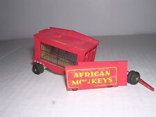 Simmons #56 (Wood) Circus African Monkeys Cage Wagon #56 Part.Built-up H.O.