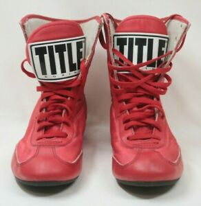 Title Boxing Speed-Flex Encore Mid-Length Boxing Shoes Red Size 3 Pre-Owned