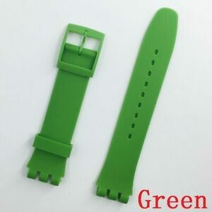 New Wrist Watch Band Strap For Swatch Replacement 16mm Rubber Silicone Watchband