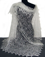 Châle Blanc - Châle Mariage - Chale russe d Orenbourg Tricoté à la main a 832081051e5