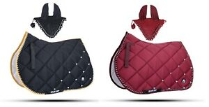 Numnah Horse Saddle Pad With Matching Fly Veil Set