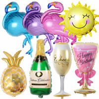 Cute Animals Fruits Foil Balloon Baby Child Shower Summer Theme Party Supplies