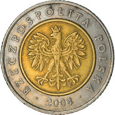 [#749378] Moneta, Polska, 5 Zlotych, 2008, Warsaw, EF(40-45), Bimetaliczny, KM:2