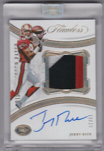 2020 Panini Flawless JERRY RICE #10/10 Encased Patch Auto San Francisco 49ers
