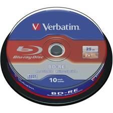 Blu-ray bd-re vergine 25 gb verbatim 43694 10 pz torre