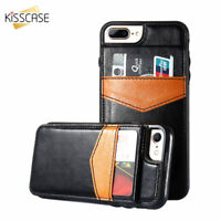 Vintage Leather Wallet Magnetic Flip Card Case Cover For iPhone 6 6s 7 8 Plus X