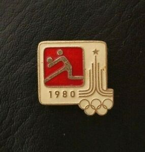1980 Volleyball XXII Olympic Games Moscow Soviet Pin Badge Sport FIVB USSR