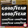 6 Stickers Autocollant Goodyear sponsor échappement lot planche sticker decal