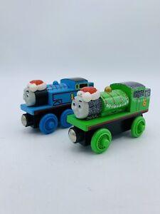 Thomas & Friends Wooden Railway Holiday Percy & Christmas Thomas Lot Engine