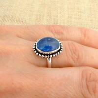 Kyanite 925 Silver Ring UK Size M-US Size 6 1/4 Indian Jewellery