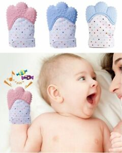 Teething Mitten For Babies Glove Mit Self Soothing Pain Relief Baby Chew Age