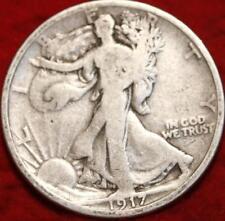 >> 1917  WALKING LIBERTY SILVER HALF DOLLAR COIN, NICE Philadelphia Mint COIN