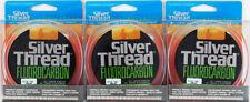 (Lot Of 3) Silver Thread Fluorocarbon Line 200Yd Zfc1000200 Clear 10Lb Au5203