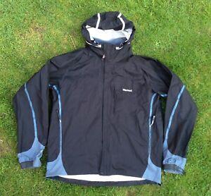 Marmot Precip Eco Jacket BLK Blue Reflective Hi Vis Silver Waterproof Hooded  XL