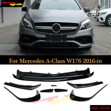For Mercedes W176 ABS Front Bumper Lip 8pc for A Class AMG Style A200 2016-in