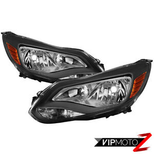 2012-2014 Ford Focus {FACTORY STYLE} Black Housing Headlamp Lights Replacement