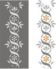 Wandschablone, Schablone, Tupfschablone, Malerschablone, Stencils - Blütenstrang