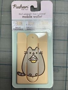 Pusheen the Cat 3 in 1 Stick-on Wallet Cord Keeper Stand Mobile Phone