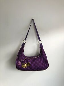 Vintage Y2K 2000s Bratz Handbag Sleeping Bag Purple Logo Tote Shoulder Large